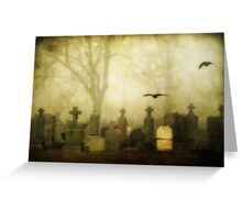 Foggy Cemetery  Greeting Card