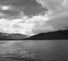 Kootenay Lake from the ferry by Carol Hathaway