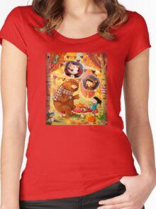 Halloween Tea Party Women's Fitted Scoop T-Shirt