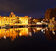 Constitution Dock, Hobart, Early Morning by Chris Cobern