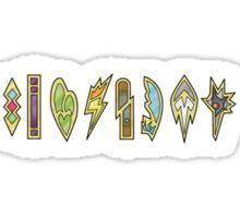 The Unova Gym Badges (B&W) Sticker