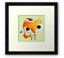 Cute Christmas Fox Framed Print