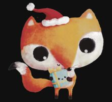 Cute Christmas Fox Kids Tee