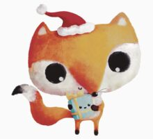 Cute Christmas Fox One Piece - Long Sleeve