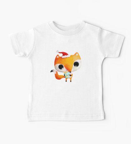 Cute Christmas Fox Baby Tee