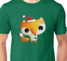 Cute Christmas Fox Unisex T-Shirt