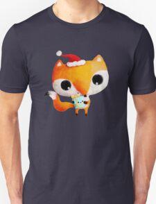 Cute Christmas Fox Unisex T-Shirt
