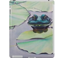 Frog on lily pad iPad Case/Skin