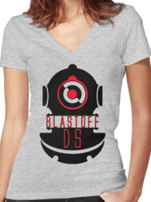 BLAST OFF Women's Fitted V-Neck T-Shirt