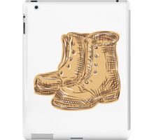 Boots Old Etching iPad Case/Skin