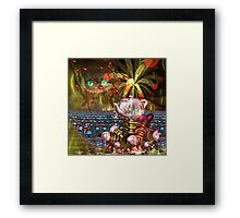 The sea of tea for You and Me Framed Print