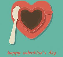 Heart-Shaped Cup - Happy Valentine's Day Card by RumourHasIt