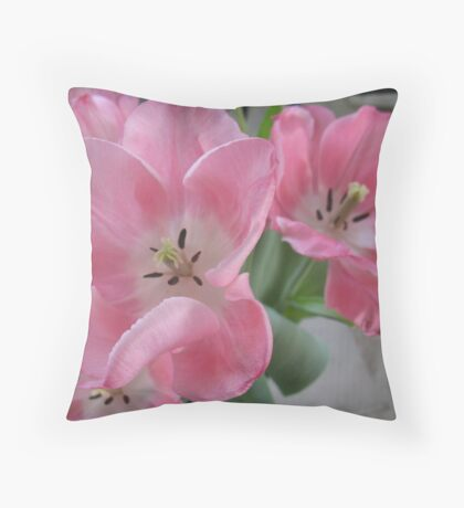 The Dream Dance of Ballet Tulips Throw Pillow