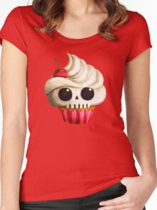 Delicious Skull Cupcake Women's Fitted Scoop T-Shirt