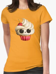 Delicious Skull Cupcake Womens Fitted T-Shirt