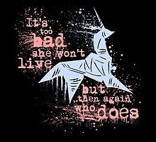 Blade Runner Sci Fi Science Fiction Ridley Scott Harrison Ford Unicorn Origami  by Joe Badon