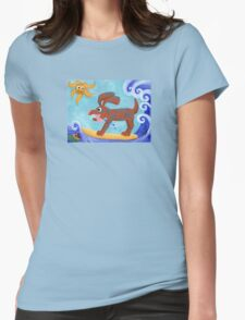 Bongo Catches a Wave Womens Fitted T-Shirt