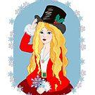 Christmas Top Hat by redqueenself