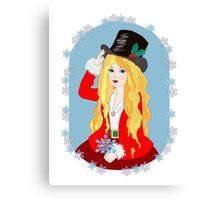 Christmas Top Hat Canvas Print
