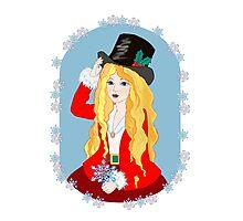 Christmas Top Hat Photographic Print