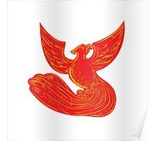 Phoenix Rising Etching Poster