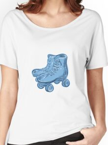 Roller Skates Vintage Etching Women's Relaxed Fit T-Shirt