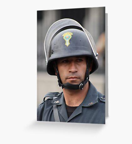 Presidential Guard, Peru - Lima Greeting Card