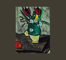 Green Vase Of Flowers(after Cezanne) T-Shirt