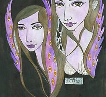 Two Girls with Wings by Bethy Williams