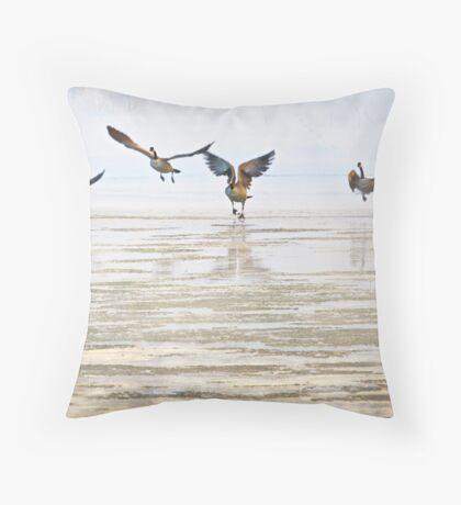 Winter Geese 2 Throw Pillow