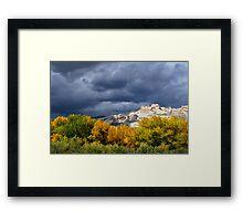Split Mountain Autumn Framed Print