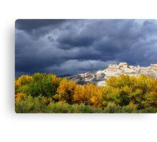 Split Mountain Autumn Canvas Print