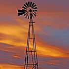 SUNSET WINDMILL by Rodney55