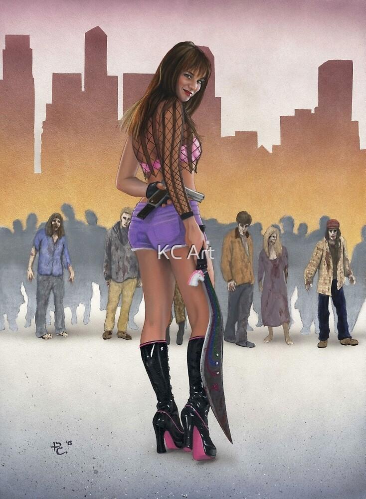 Zombie Slayer by KC Art