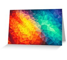 Abstract Multi Color Cubizm Painting Greeting Card