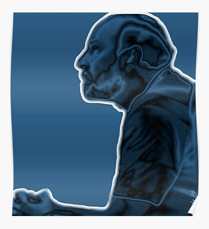Thinking While 'Blue' Poster