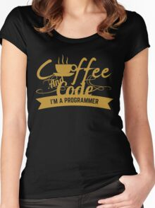 programmer : coffee and code. I am a programmer Women's Fitted Scoop T-Shirt