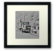 Neighborhood Snow Plow Framed Print