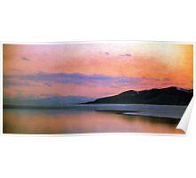 Utah Lake - Panoramic Sunset Poster