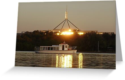 Lake Burley Griffin - Canberra by Andy Anderson