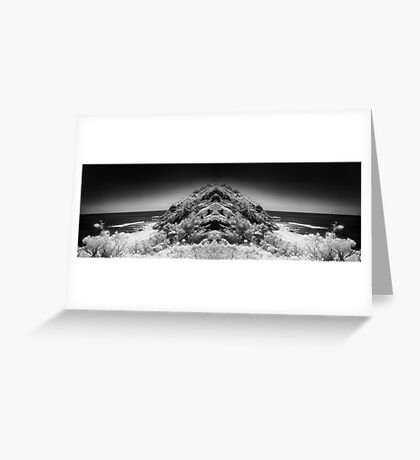anthropomorphic landscape two Greeting Card