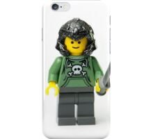 Stupid orc looking human minifig with a sword and helmet iPhone Case/Skin
