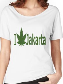 0040 I Love Jakarta  Women's Relaxed Fit T-Shirt