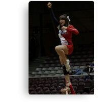 CSU-Pueblo Cheerleader @ RMAC Tournament Canvas Print