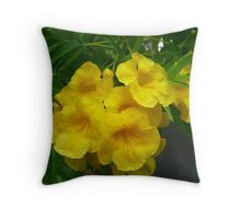 Lovely Yellow Flowers on the Island of Lifou. Throw Pillow