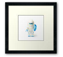 Abominable Snowman Yeti Minifig Framed Print
