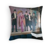 A Mural on the Wall of a Cruise Ship Entertainment Room. Throw Pillow