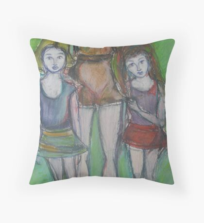 DAUGHTERS - A detail of Mother Throw Pillow