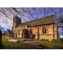 St Peter's & St Paul's Church in  Barnby Dun Photographic Print