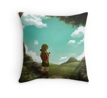 The Legend of Zelda: Ocarina of Time - The Outset of a Journey Throw Pillow